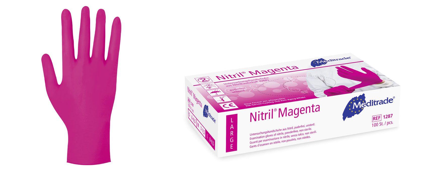 Nitril® Magenta Untersuchungshandschuh