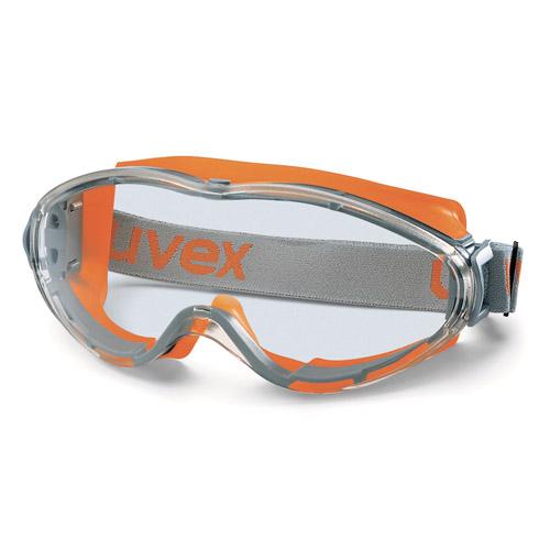 UVEX Ultrasonic Vollsichtbrille, orange/grau
