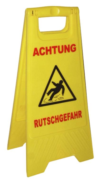 Warnschild Achtung Rutschgefahr Warnaufsteller klappbar