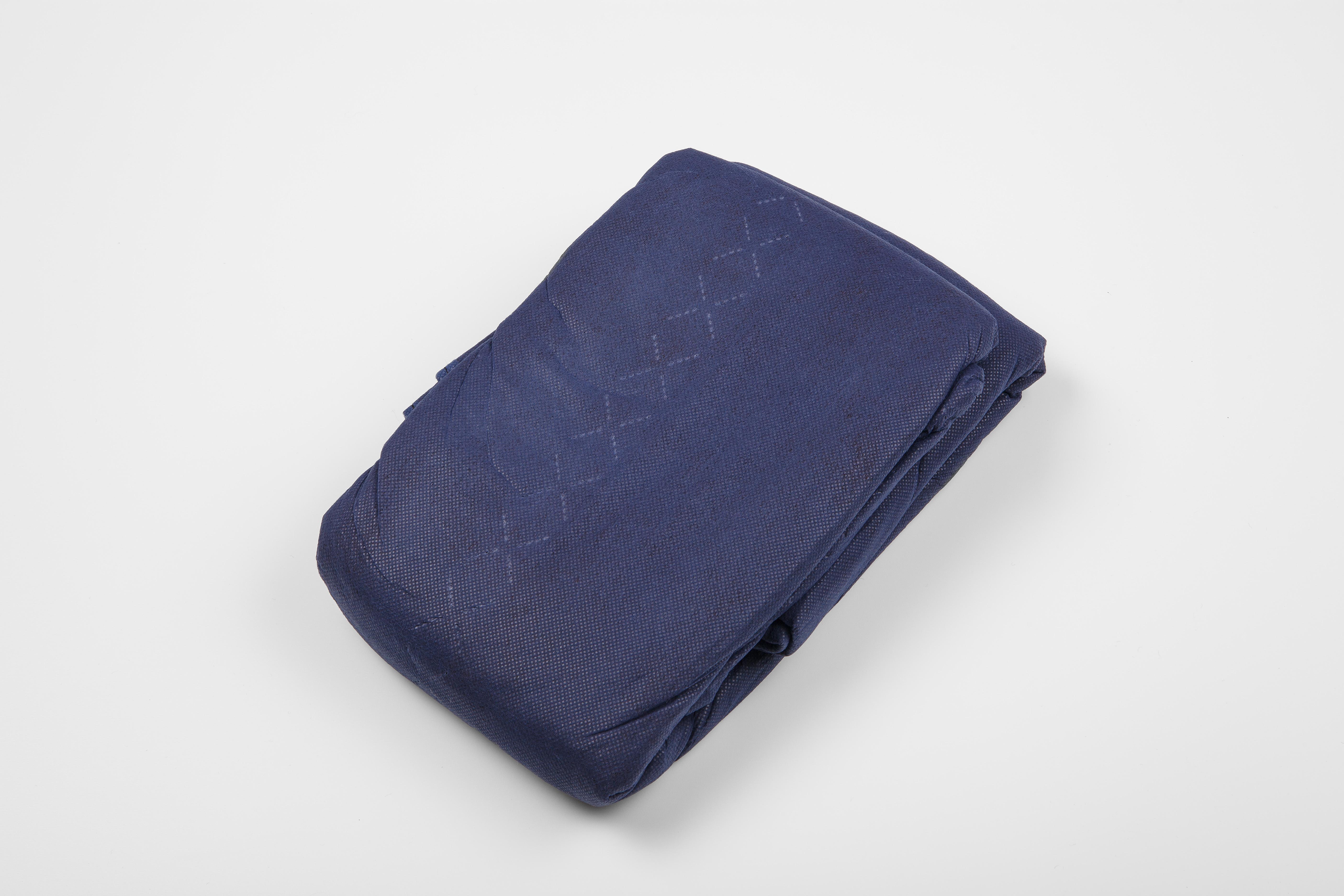 Einmaldecken, Polyesterwatte, blau, 700g