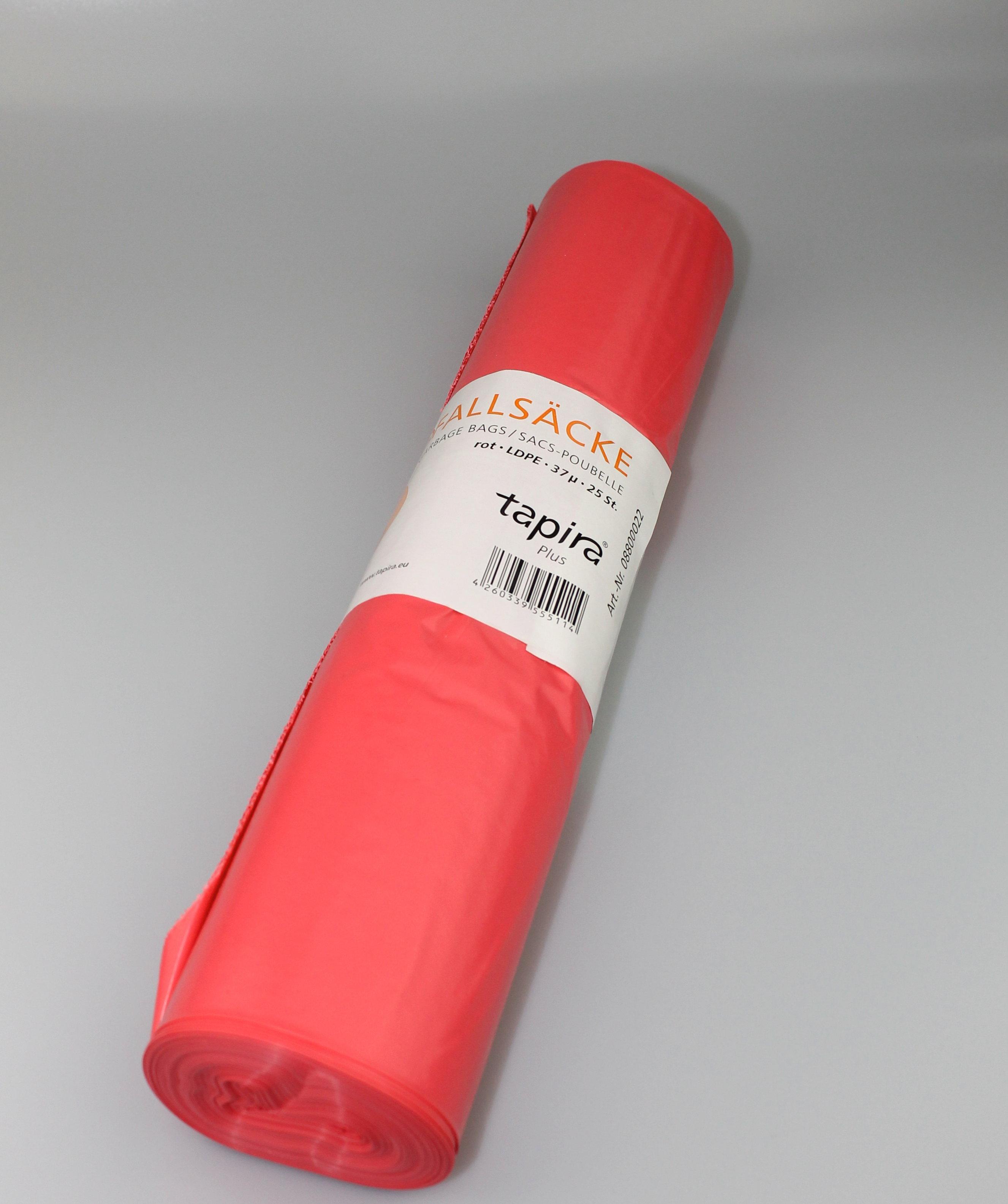 LDPE Abfallbeutel Tapira Plus 70L 37my rot