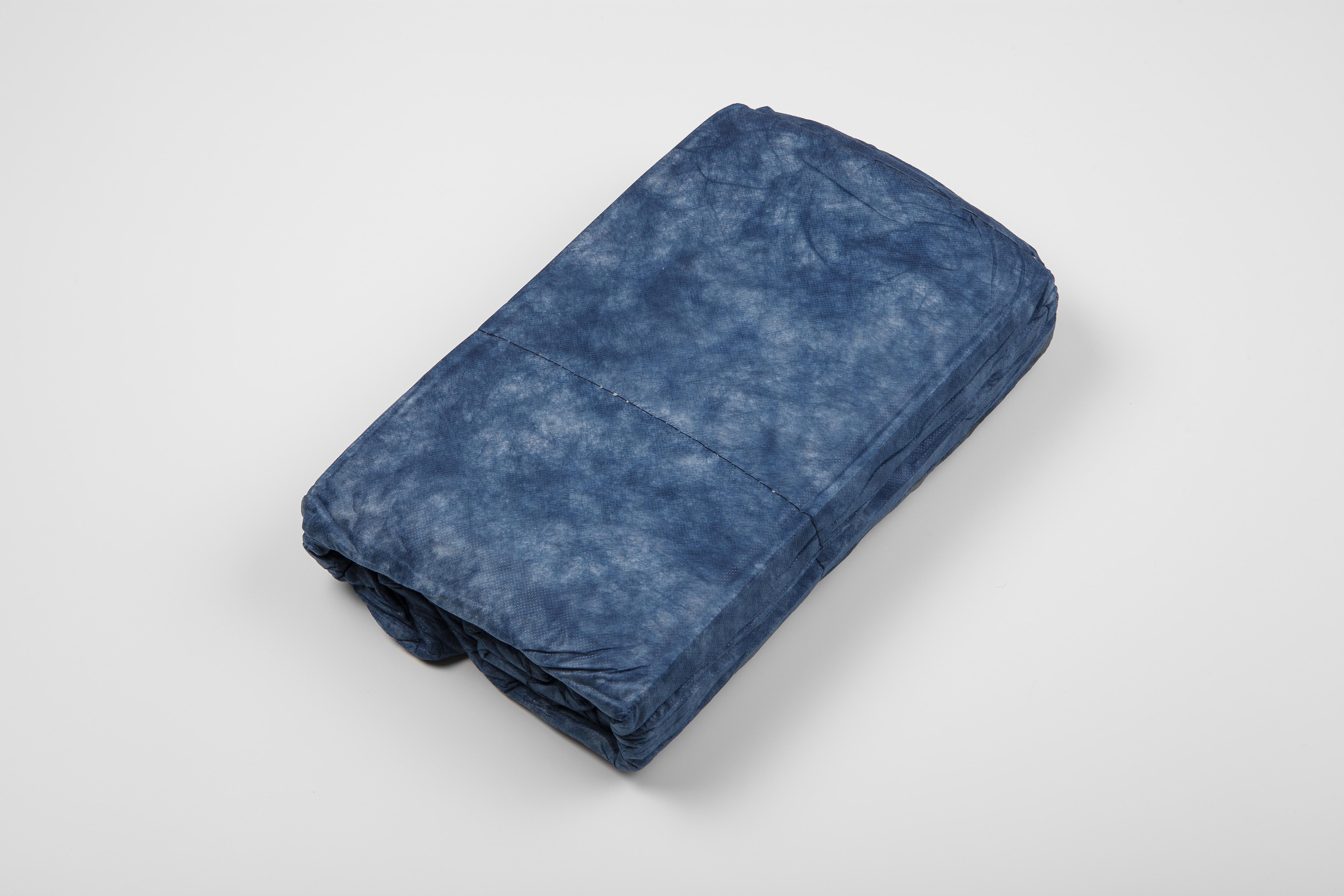 Einmaldecken, wattiert, blau, 500g