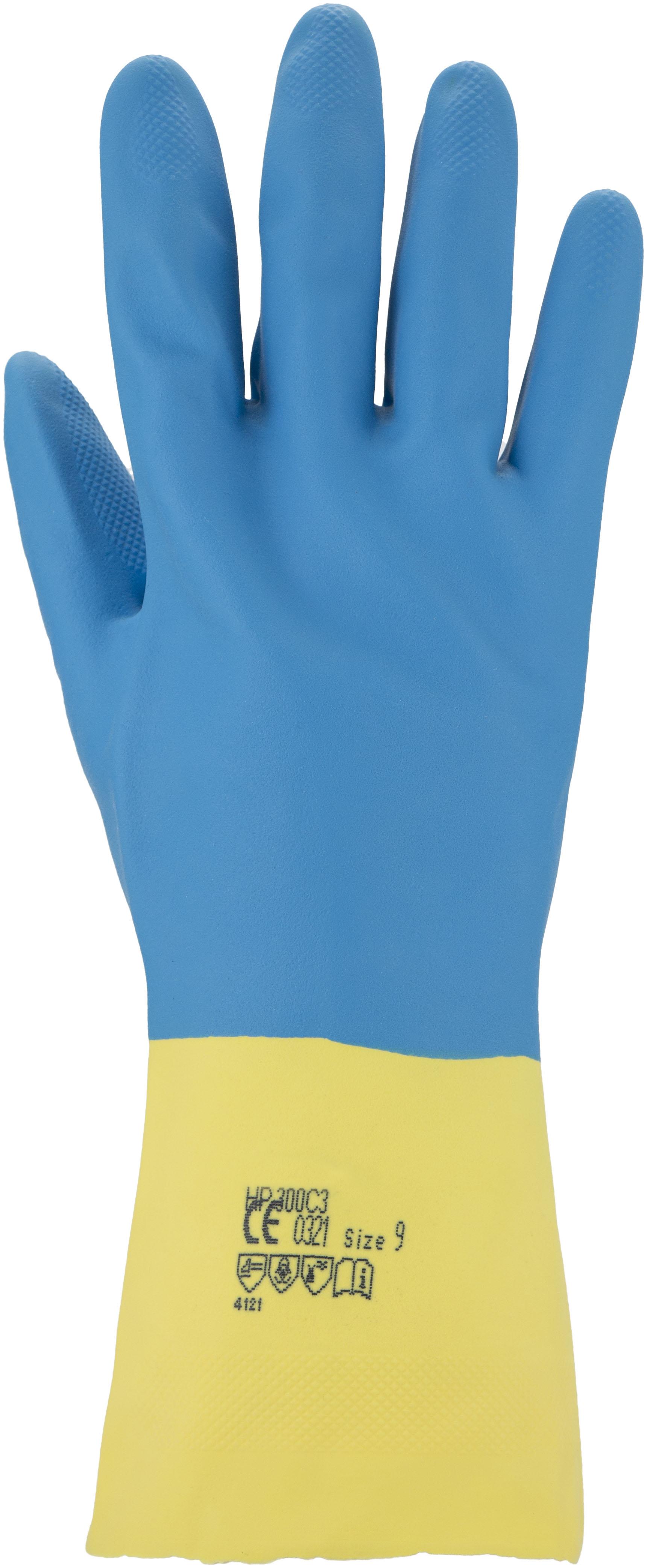Chemikalienschutzhandschuh Latex blau
