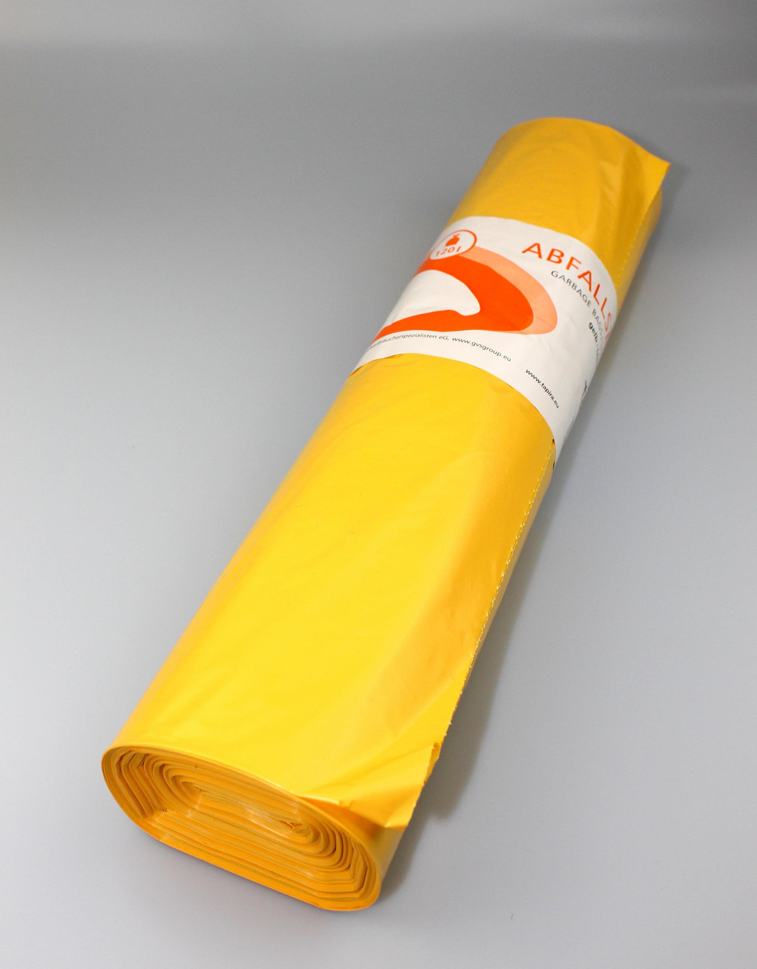 LDPE-Abfallsäcke 120l 36 my gelb