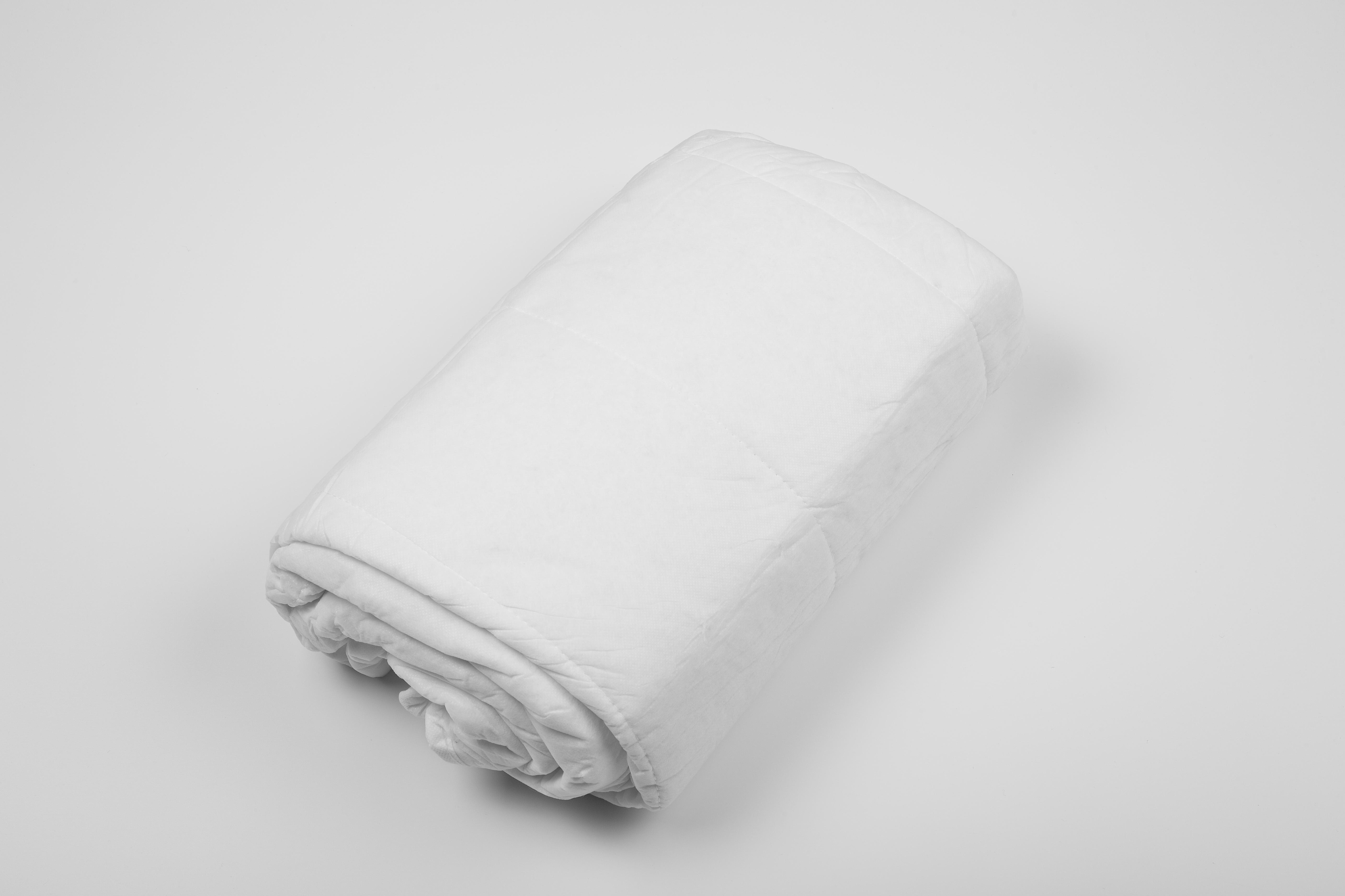 Einmaldecken, Polyesterwatte, weiß, 700g