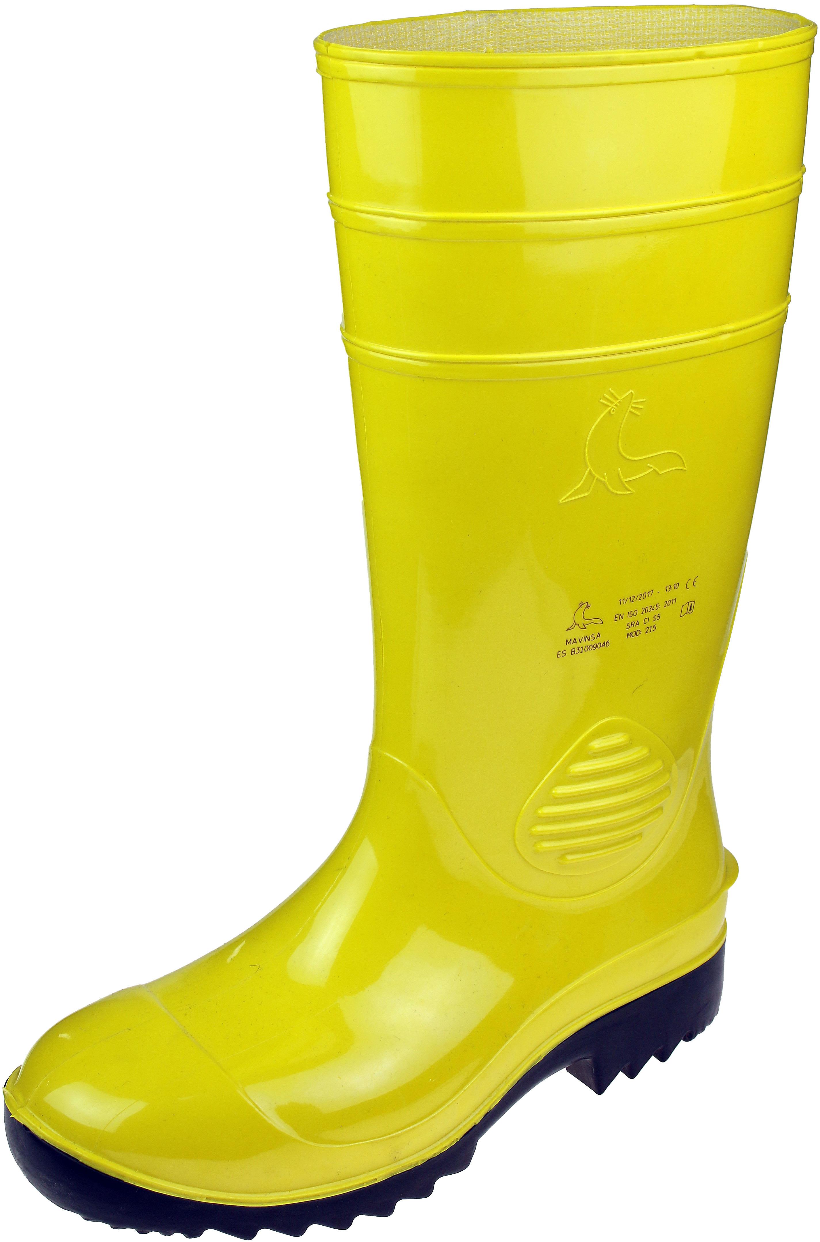 PVC-Sicherheitsstiefel S5, phthalatfrei, gelb oder schwarz