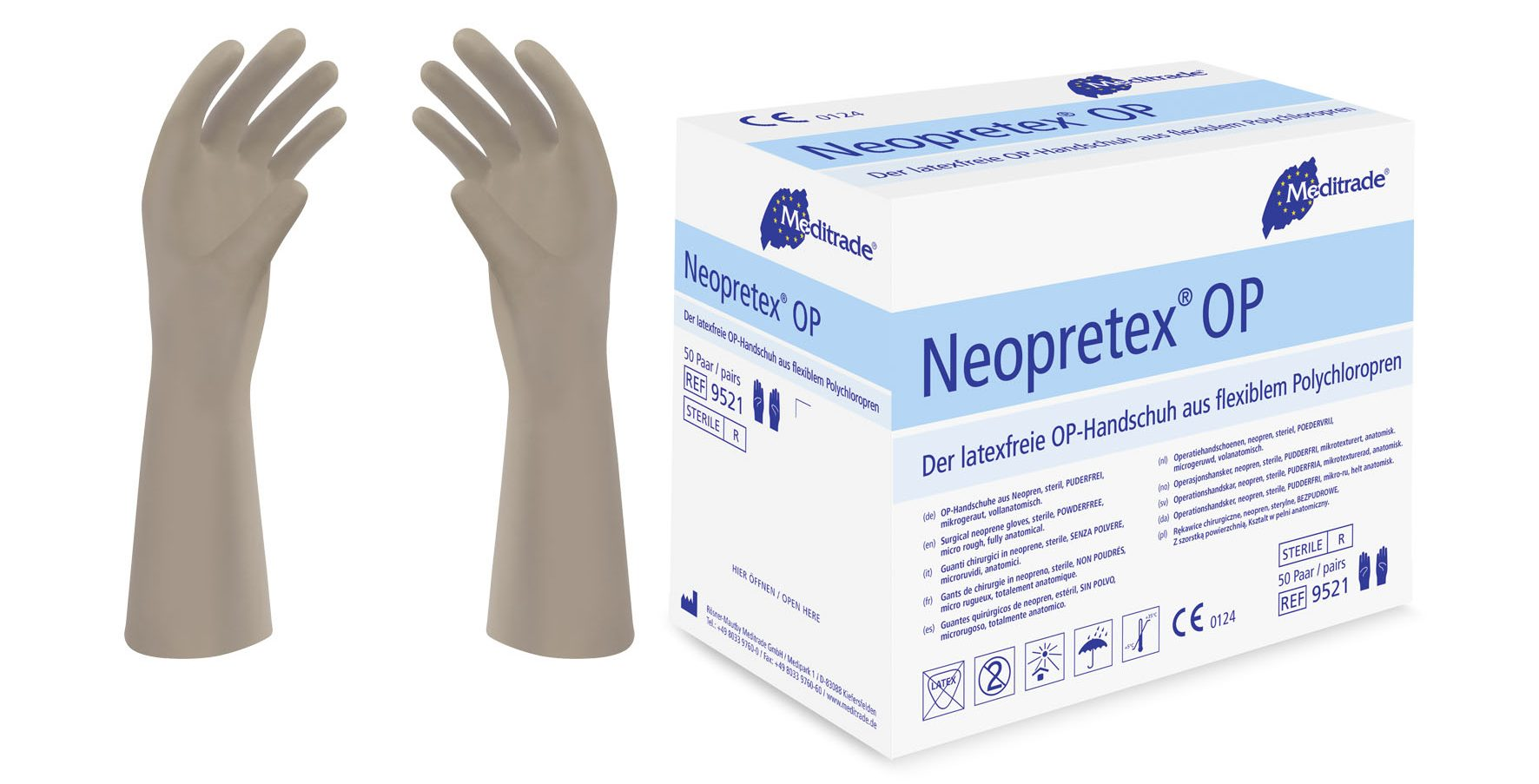 Neopretex® OP, Handschuhe aus Polychloropren